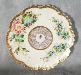 Antique Porcelain Plate With Portrait Center Suro