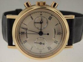 Breguet Mens 18k RG Ref 3237 Classique Chronograph.