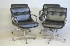4-MODERN LEATHER OFFICE CHAIRS