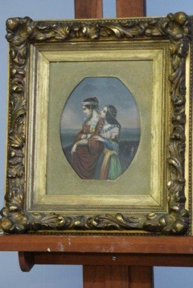 PAINTING OF 2 WOMEN