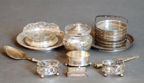 Lot Of 11 .800 Cont. Silver & S.s. & Crystal Pcs