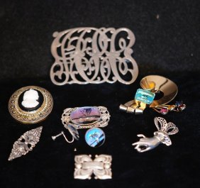Lot Of 9 Assorted S.s. Jewelry Pieces