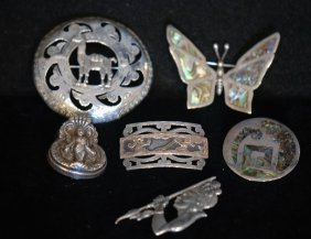 Lot Of 6 Vintage & Retro Foreign S.s. Pins