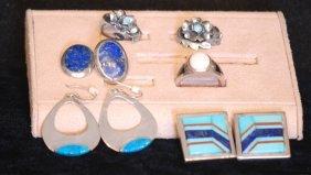 Lot Of 6 S.s. Earrings & Ring