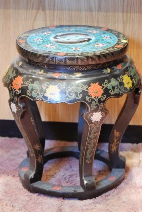 1 Chinese Cloisonne Inset Pedestal