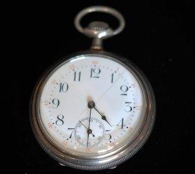 Antique .935 Silver Open Face Pocket Watch