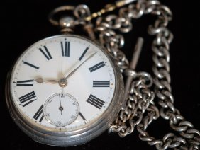19thc English S.s. Open Face Pocket Watch