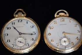 Lot Of 2 1930's Open Face Pocket Watches