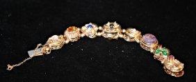 Vintage Omega 14k Gold Ladies Slide Bracelet Watch