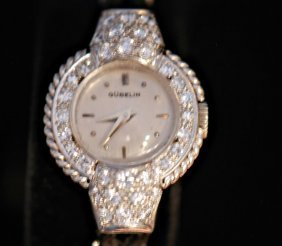 Vintage Gubelin Platinum & Diamond Ladies Watch