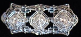 Vintage 14k White Gold Ladies Pin