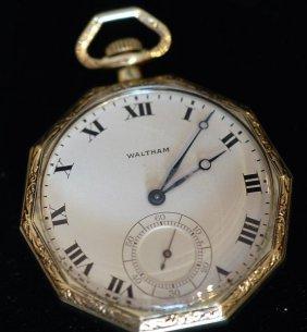 Vintage Waltham / Wadsworth 14k Pocket Watch