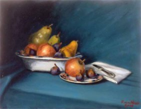 """Fruit W/Still Life"", Robert Von Meyer,"