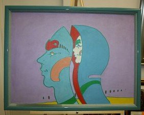 Peter Max 1972 Original On Canvas Signed - RARE RARE