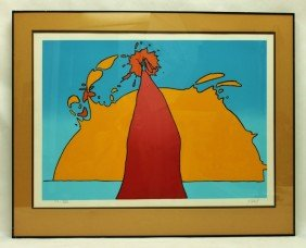 Peter Max Vintage Signed Lithograph