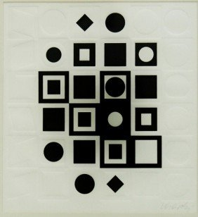 "Victor Vasarely Serigraph ""G-FF"""