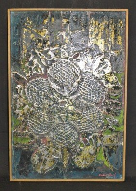 "Anibal Villacis Mixed Media ""Flor Silvestre"""