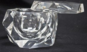 Large Geometric Lucite Box