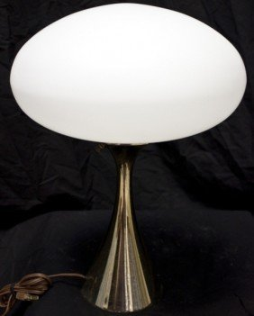 Laurel Brass Lamp W/ Frosted Glass Globe