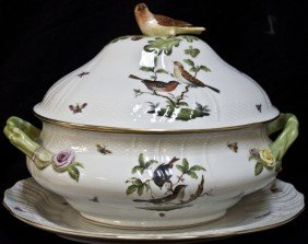 Large Herend Tureen W/ Platter