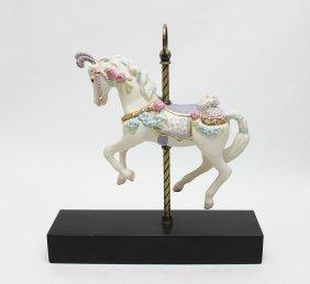 """Cybis Porcelain Carousel Horse """"Sugar Plum"""""""