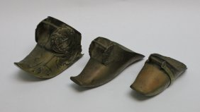(3)19th C Solid Brass Spanish Gaucho Stirrups