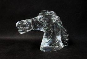 Large Cendese Art Glass Horse Head Sculpture