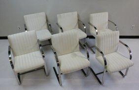 (6)1980's Mies Van Der Rohe Brno Chairs