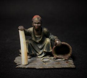 Vienna Bronze African Selling Elephant Ivory