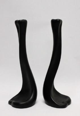 (2) Elsa Peretti Terracotta Tiffany Candlesticks