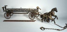 Carpenter Horse Drawn Fire Ladder Wagon