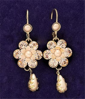 Pink Color Dangling Earrings Michael Negrin