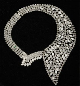 Rhinestone Collar With Marquise And Round