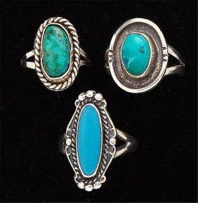 Turquoise Rings, Trio