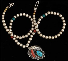 Navajo Beaded Pendant Necklace