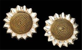 Mexican Silver Sunflower Earrings