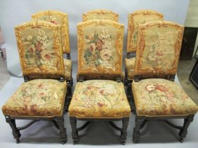 SET 6 REGENCY STYLE SIDE CHAIRS: