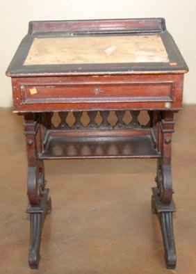 AN AMERICAN HOUSE OF REPRESENTATIVES WALNUT DESK: