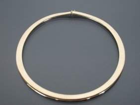 14k Yellow Gold Omega Color Neck Collar