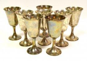 Set 8 Gorham Sterling Silver Goblets