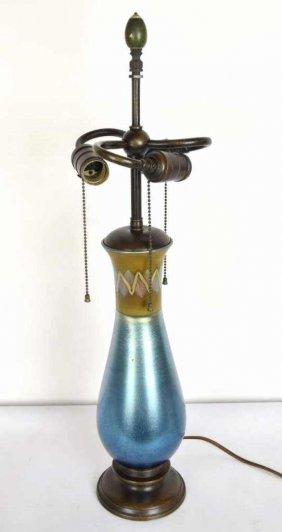 Rare Tiffany Studios Favrile Glass Lamp