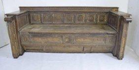17th C. Italian Inlaid Bench Chest
