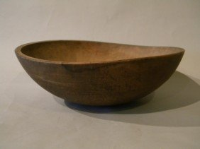19th Century Hand Turned Woodenware Bowl Size Is A