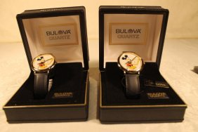 2 Bulova Mickey Mousewatches