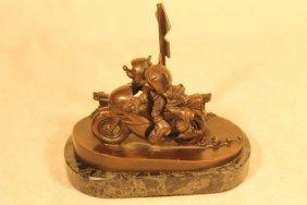 "Chilmark Bronze ""two Wheeling"" Le 33/50"