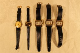 5 Mickey Mouse Wrist Watches