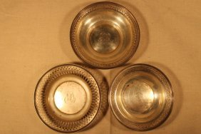 3 Sterling Trays
