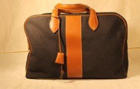 Hermes Weekender Leather Bag