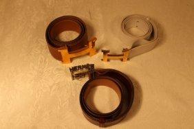 Set Of 3 Hermes Belts