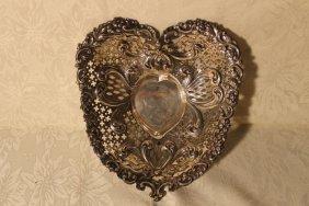Sterling Pierced Heart Shaped Bowl